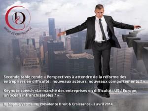 Seconde table Ronde : Perspectives à attendre de la réforme des entreprises en difficulté : nouveaux acteurs, nouveaux comportements