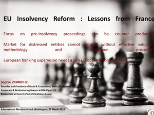 EU Insolvency Reform : Lessons from France