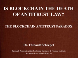 Is Blockchain the Death of Antitrust Law?