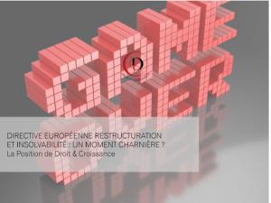 La directive européenne insolvabilité, une opportunité pour la France de se focaliser sur le long terme ?