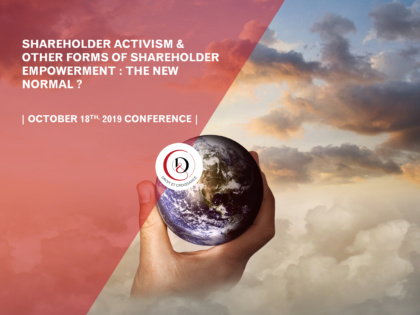 Corporate governance and shareholder engagement conference: the new normal
