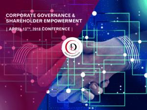 """Conférence """"Gouvernance d'entreprise & engagement actionnarial"""""""