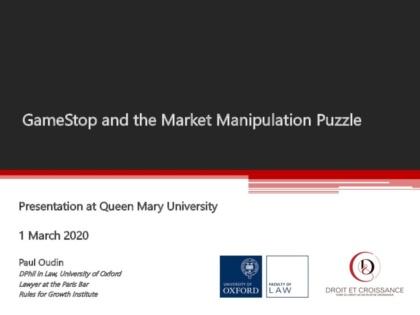 GameStop Presentation – Queen Mary University